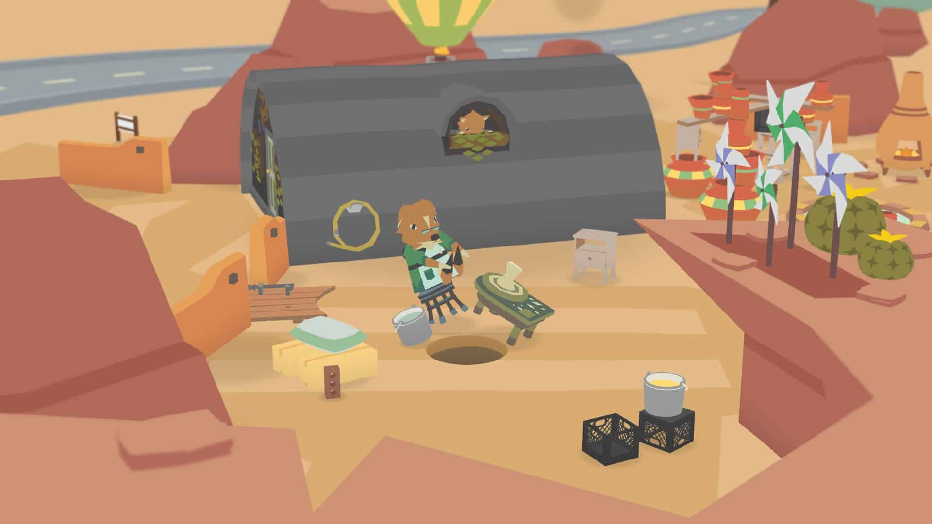 Donut County game screenshot courtesy Steam