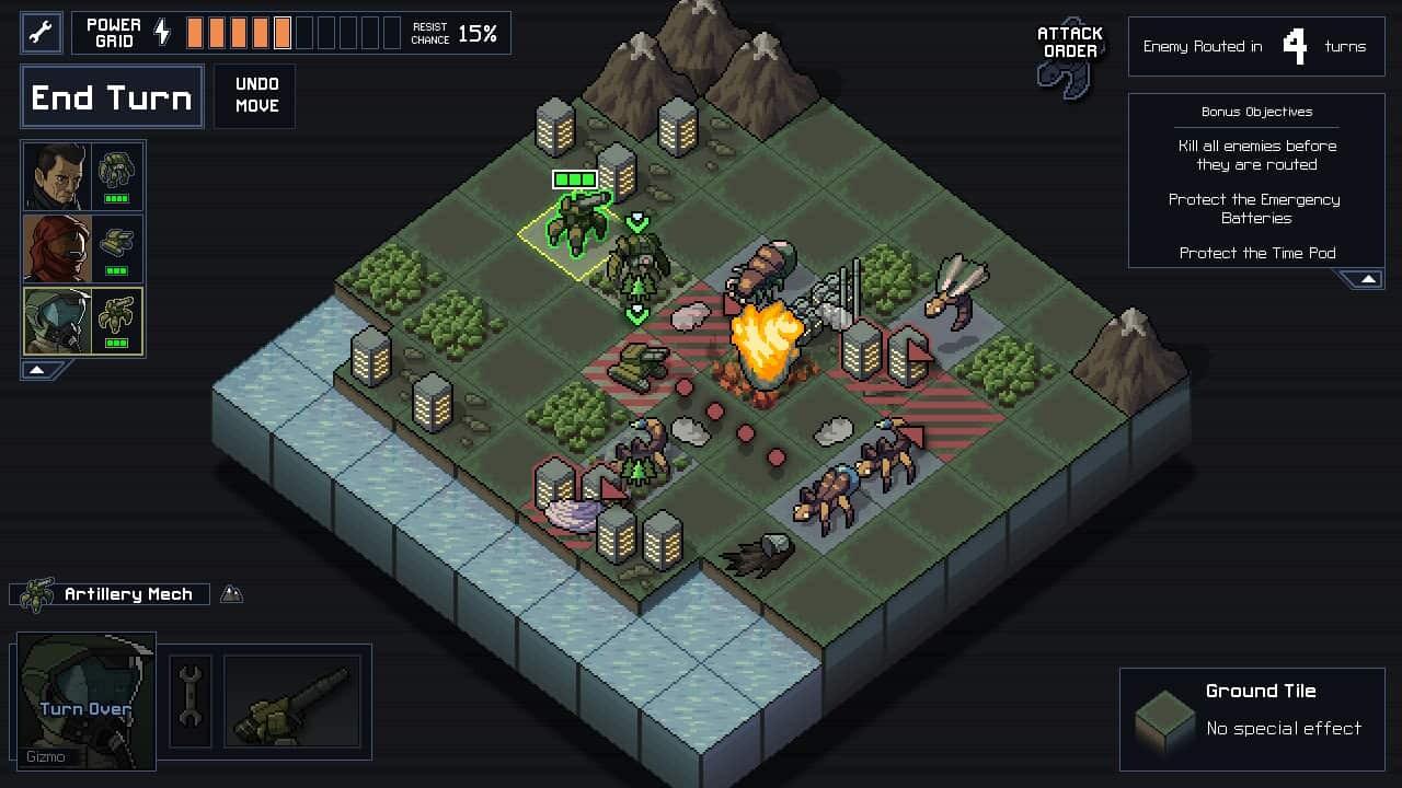 Into the Breach game screenshot courtesy Steam