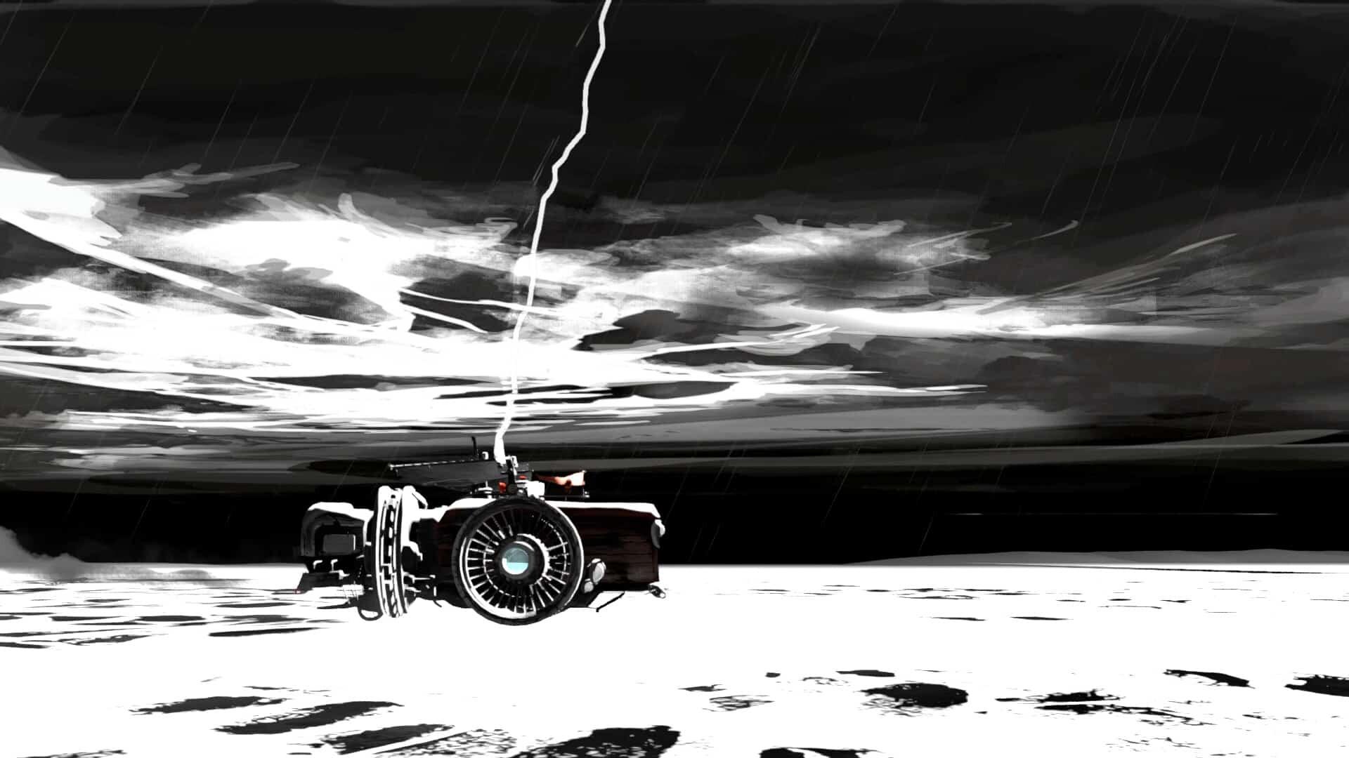 FAR: Lone Sails lightning screenshot courtesy Steam