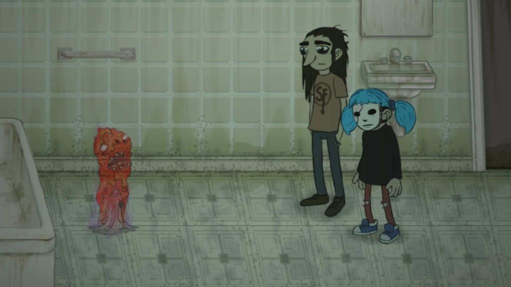 Sally Face game screenshot, ghost