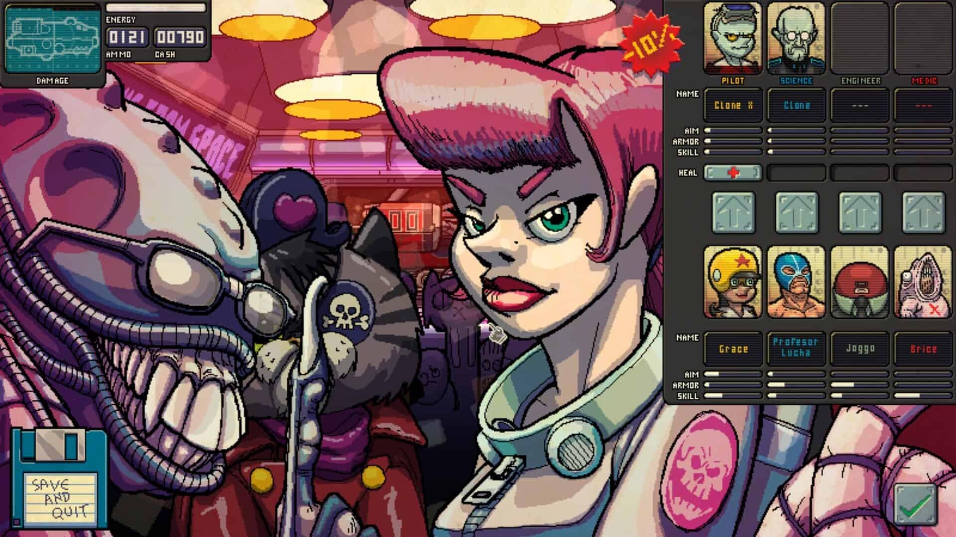 Fission Superstar X game screenshot, hiring crew