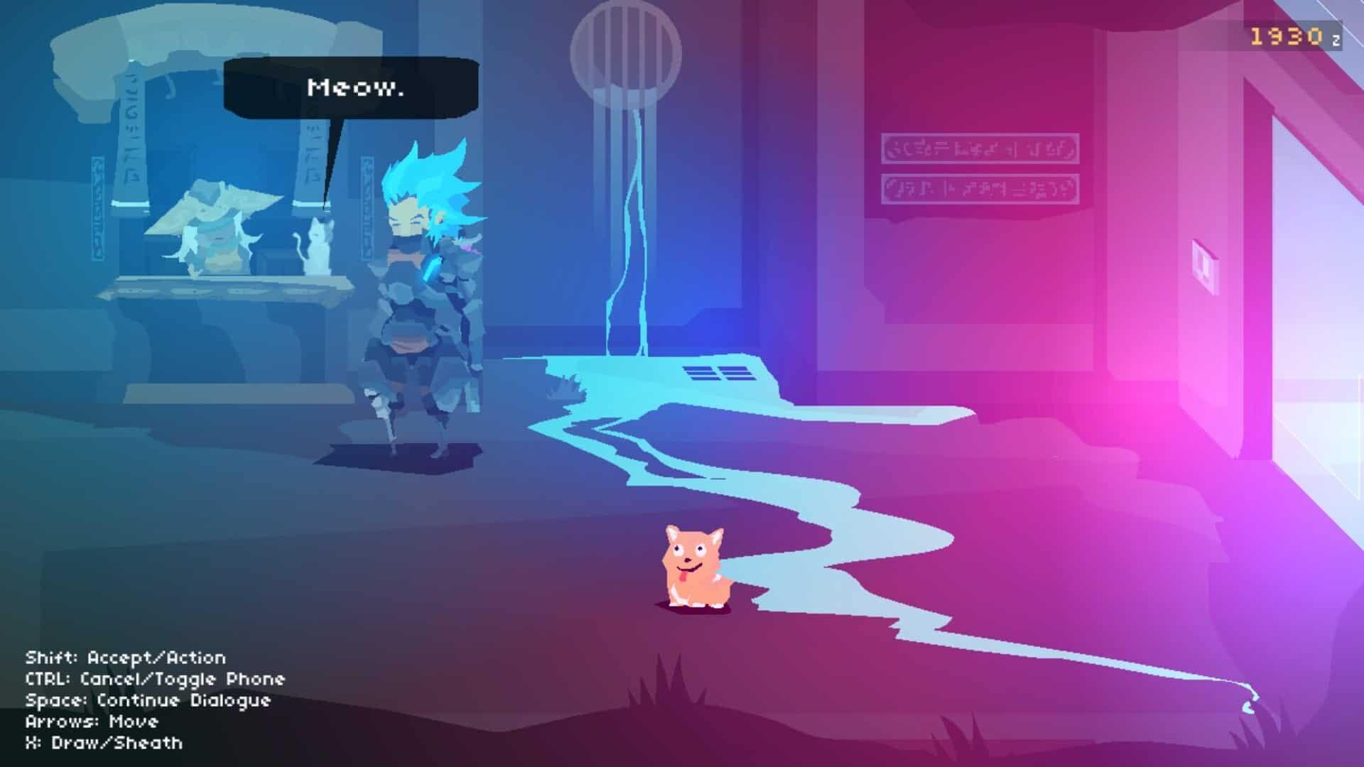 Flux game screenshot cat