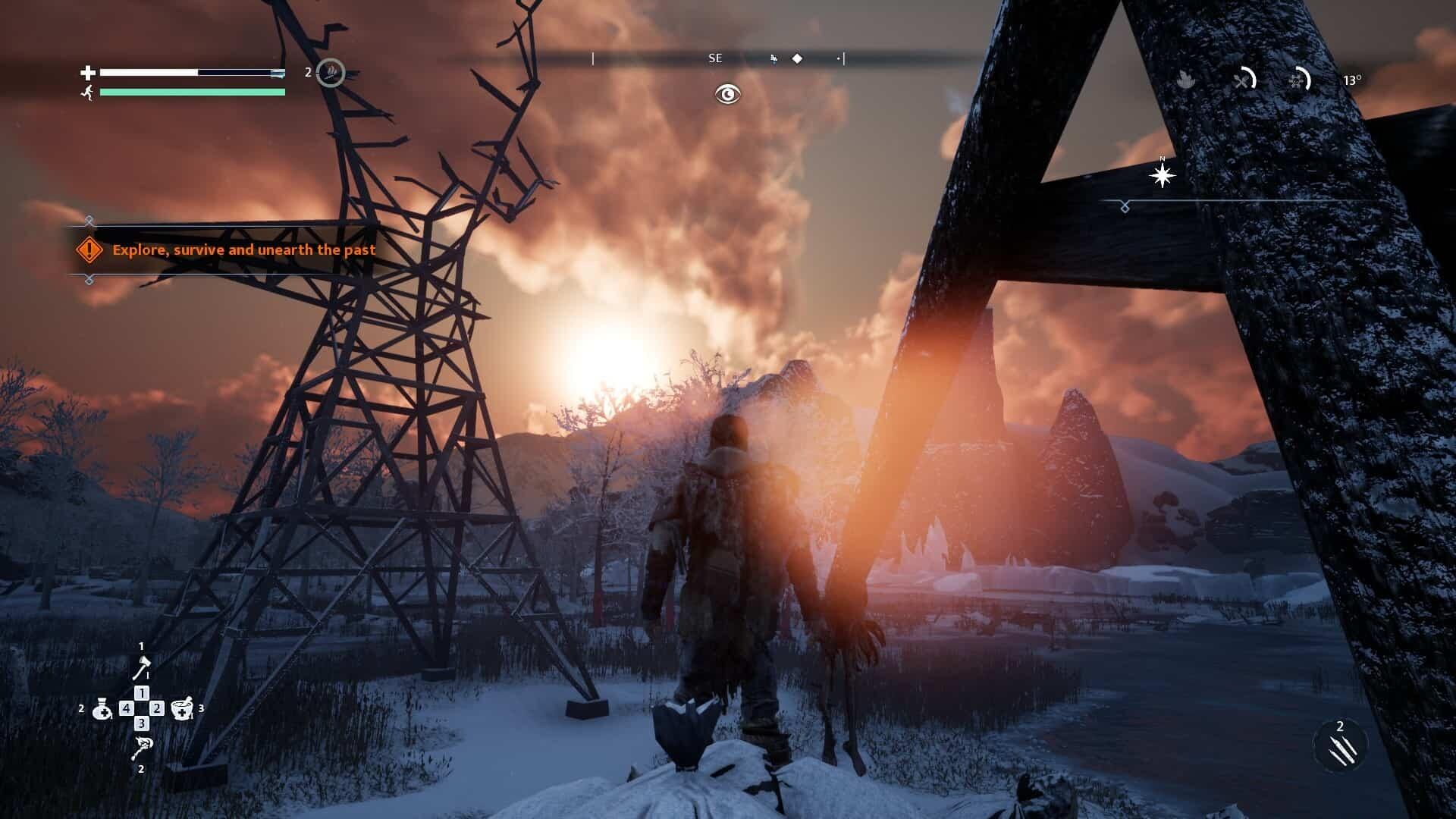 Fade to Silence game screenshot, exploring