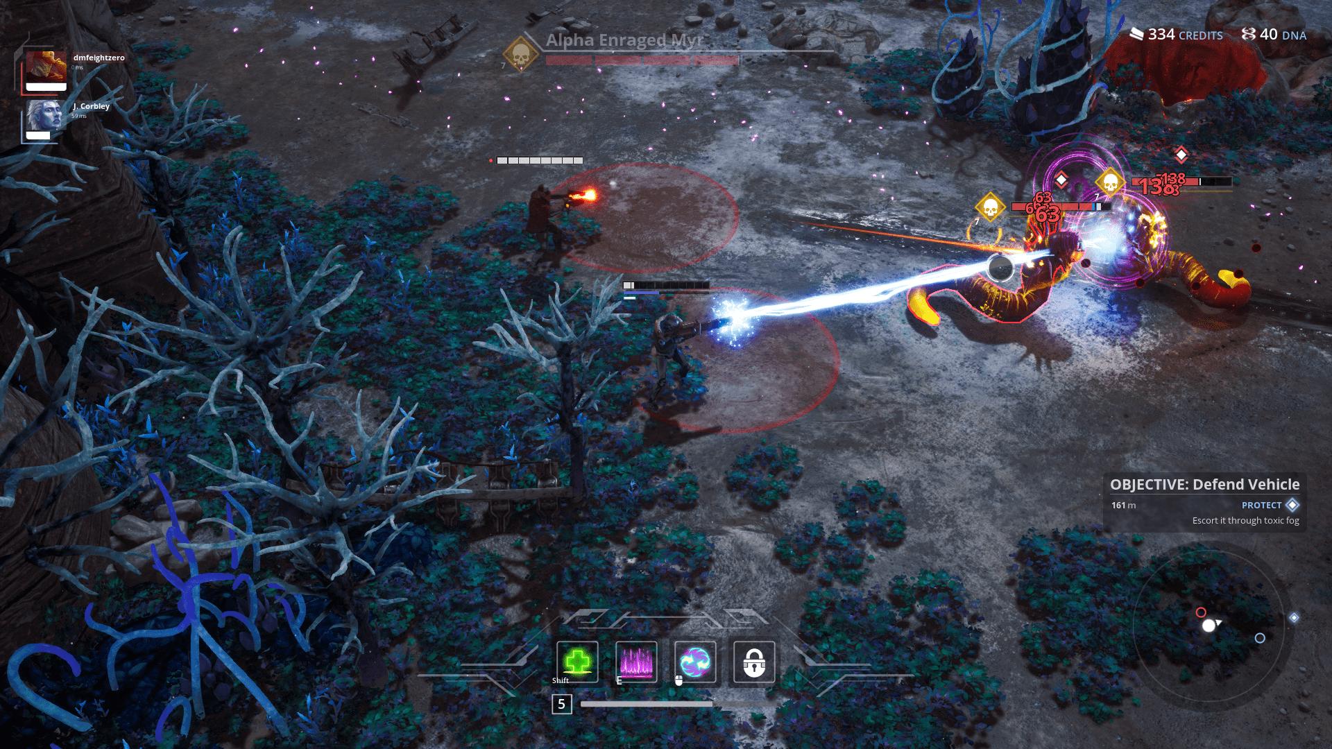 Killsquad game screenshot, fighting