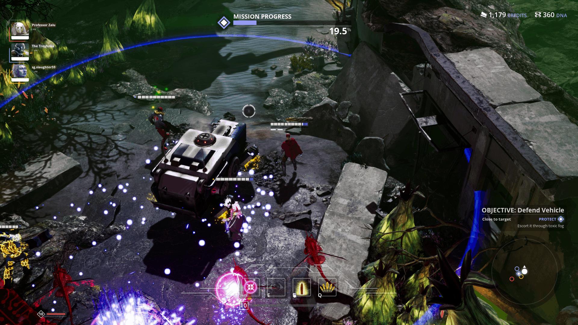Killsquad game screenshot, defending a vehicle