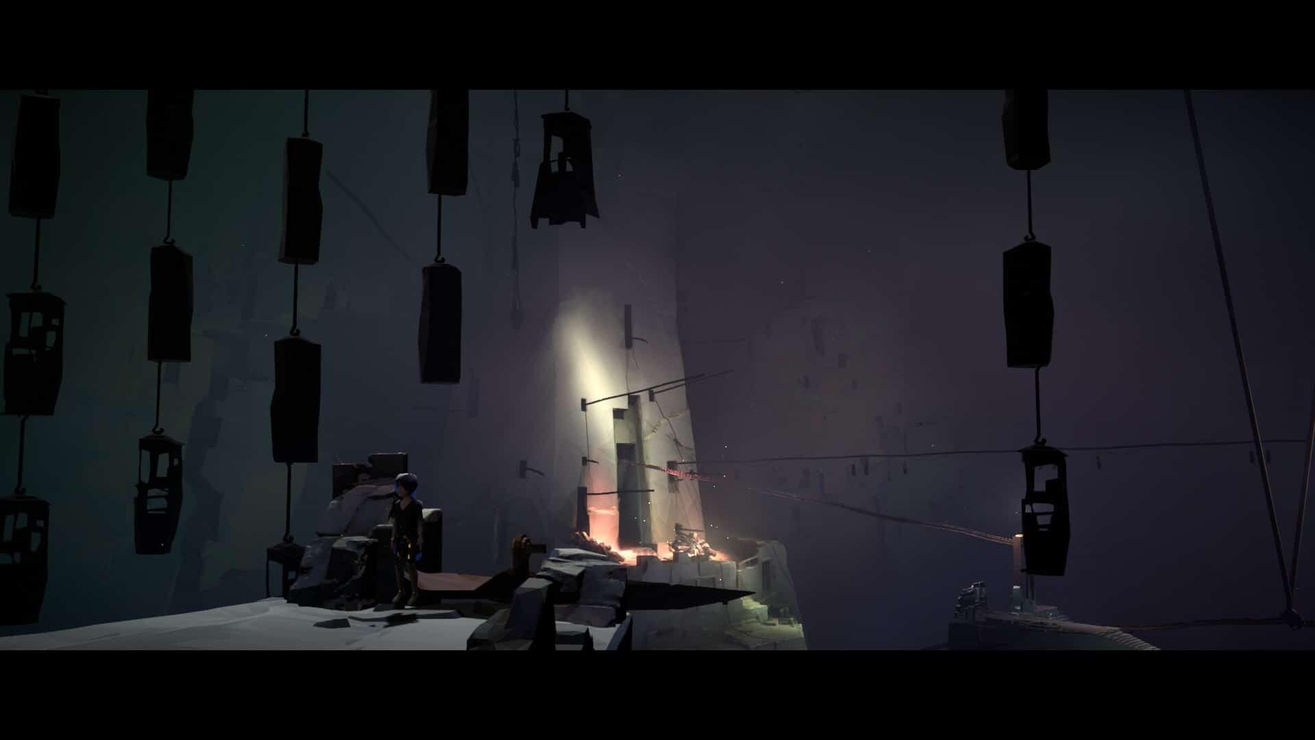 Vane game screenshot, hanging cages