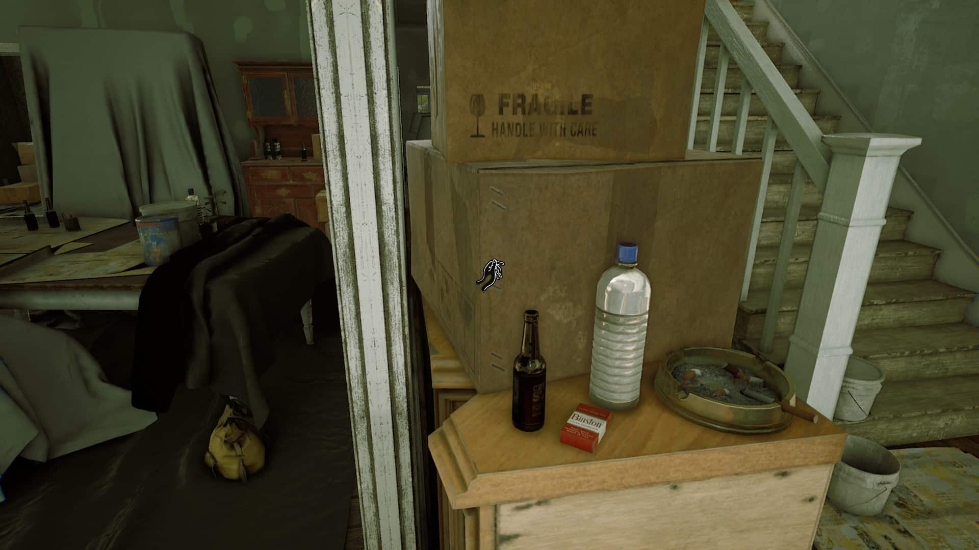 The Beast Inside game screenshot, single-use plastic bottle