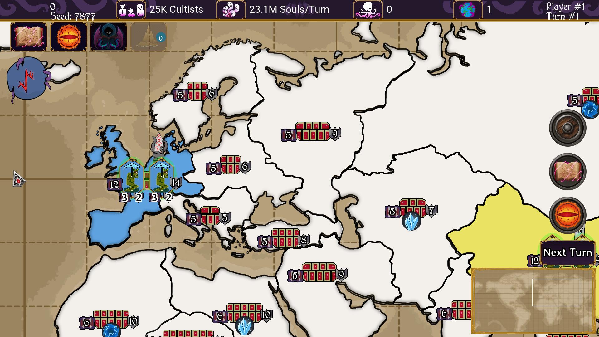 Cthulhu's Catharsis game screenshot, map