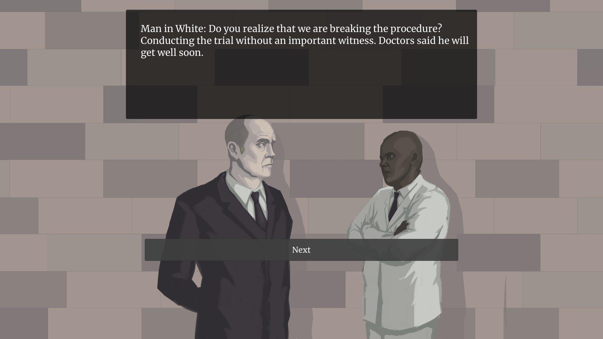 Femida game screenshot, conversation