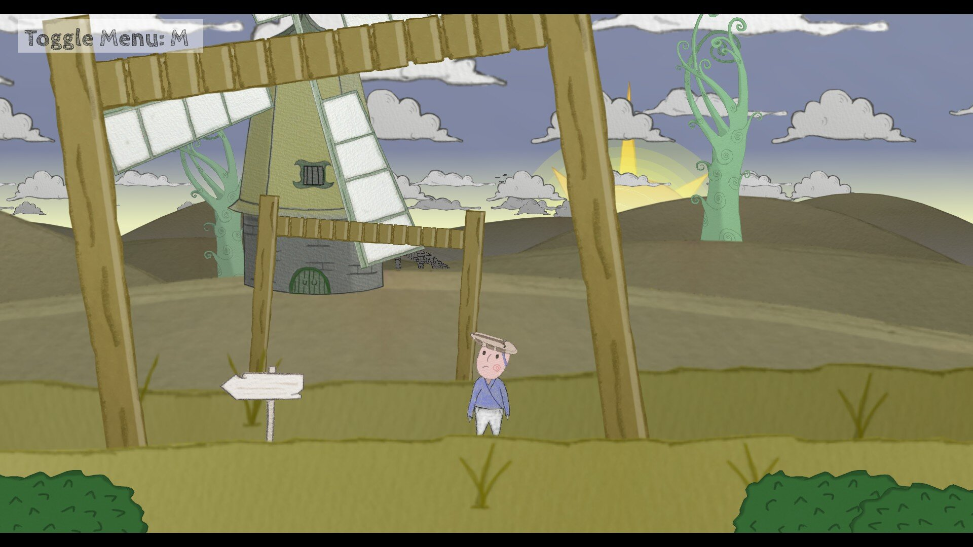Haustoria game screenshot, windmill