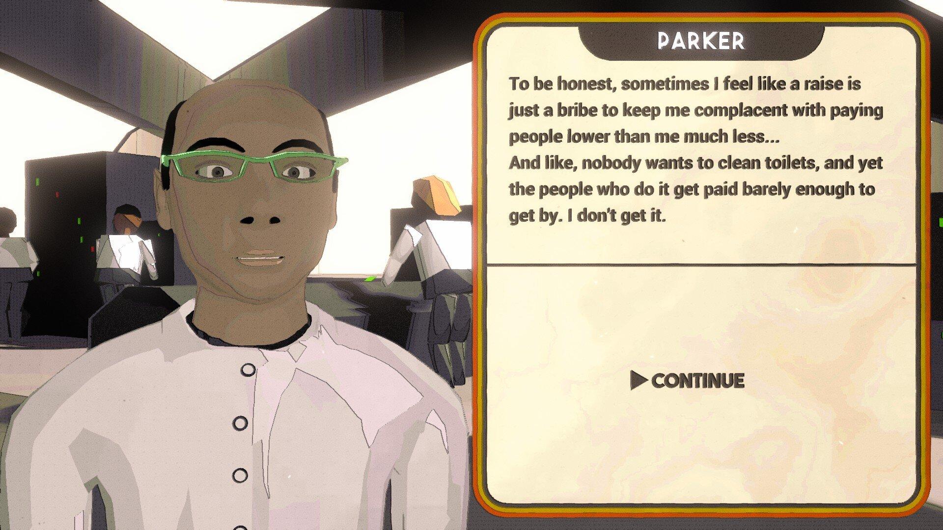 Test Tube Titans game, conversation screenshot