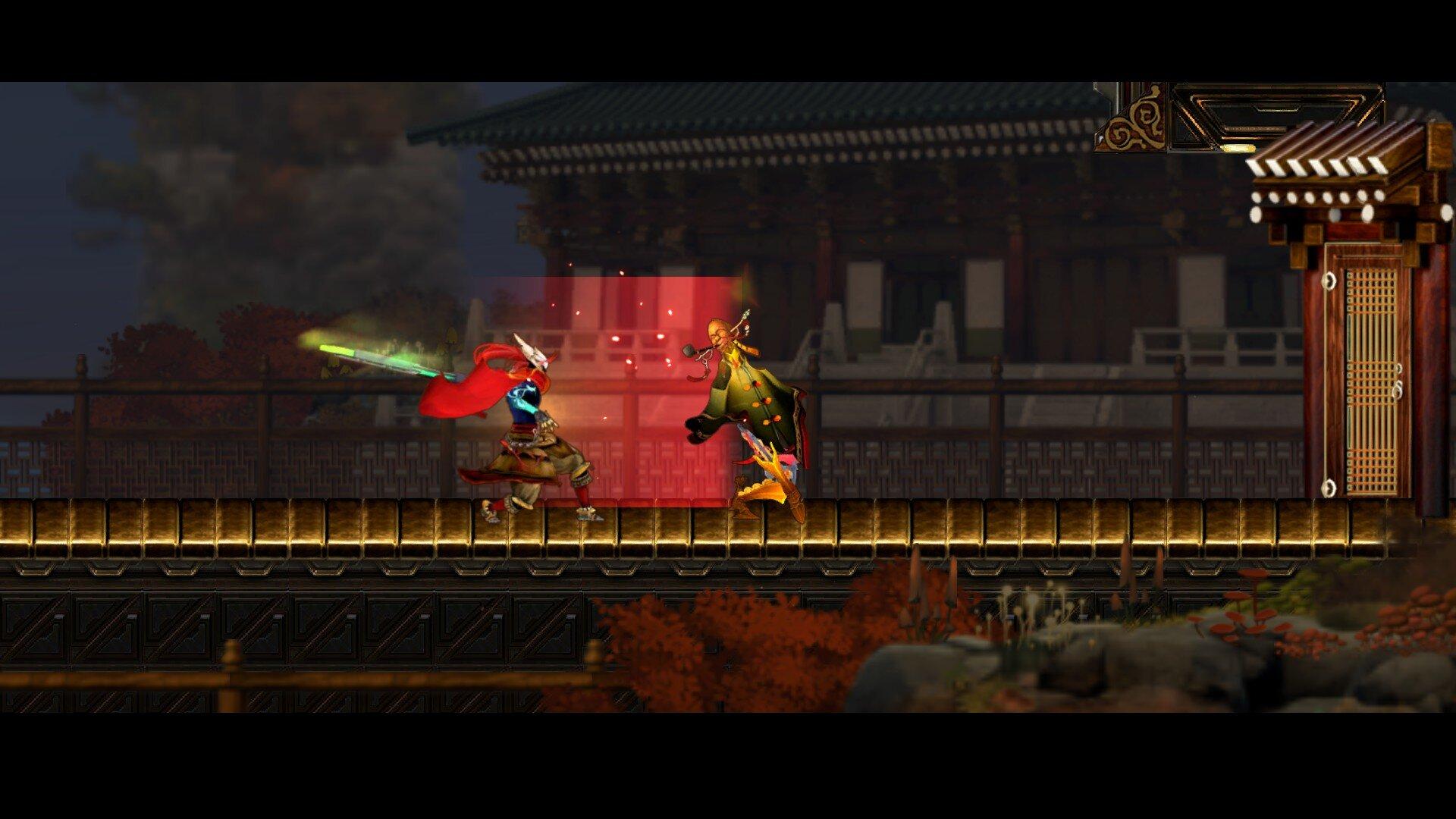 Karma Knight game screenshot, fight scene
