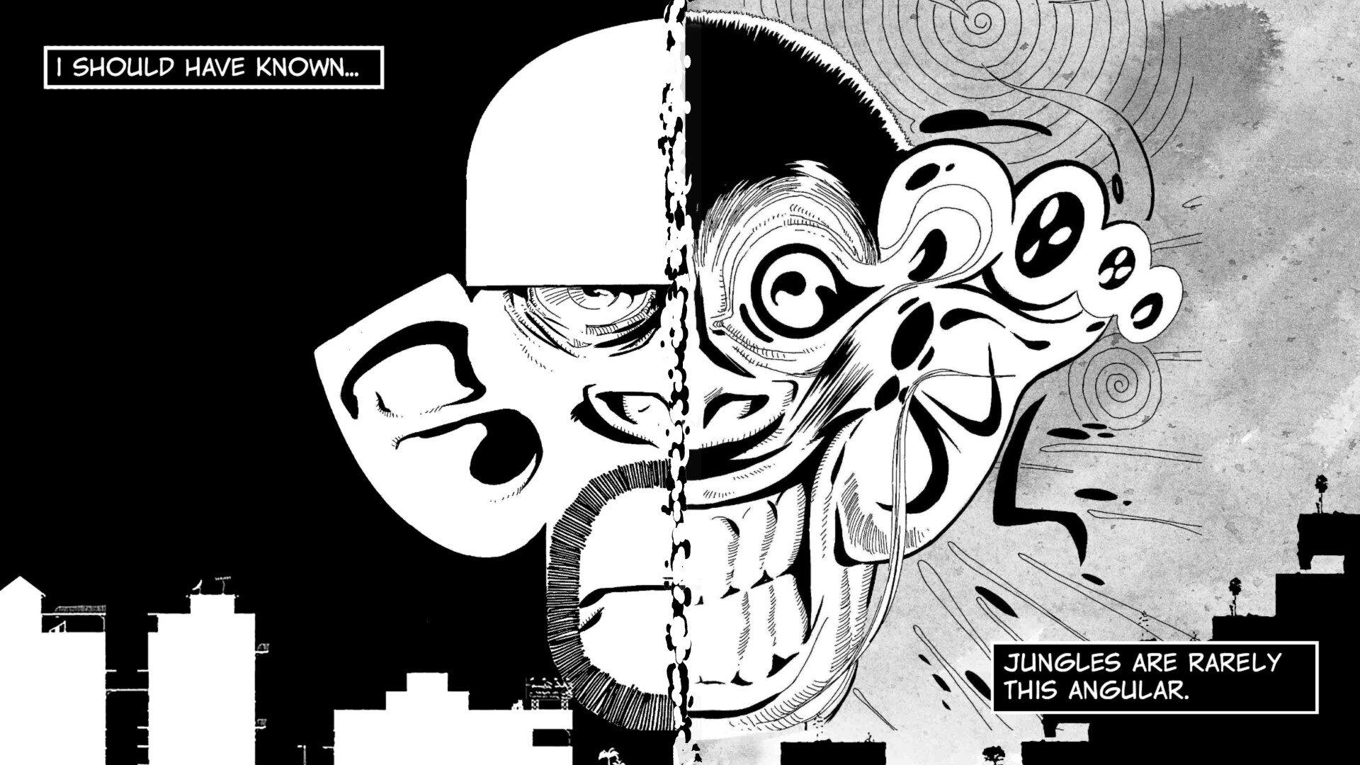 Liquid Sunshine game screenshot, comics panel
