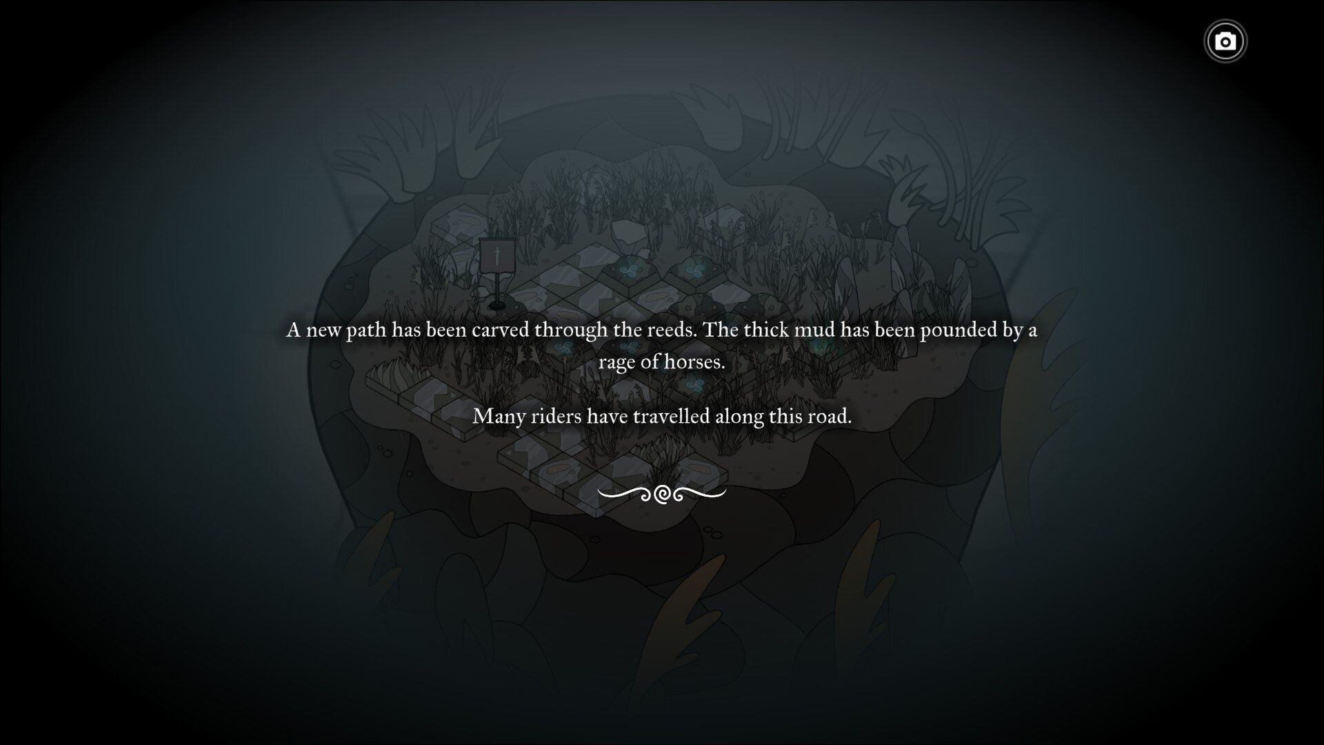 Pendragon game screenshot, writing