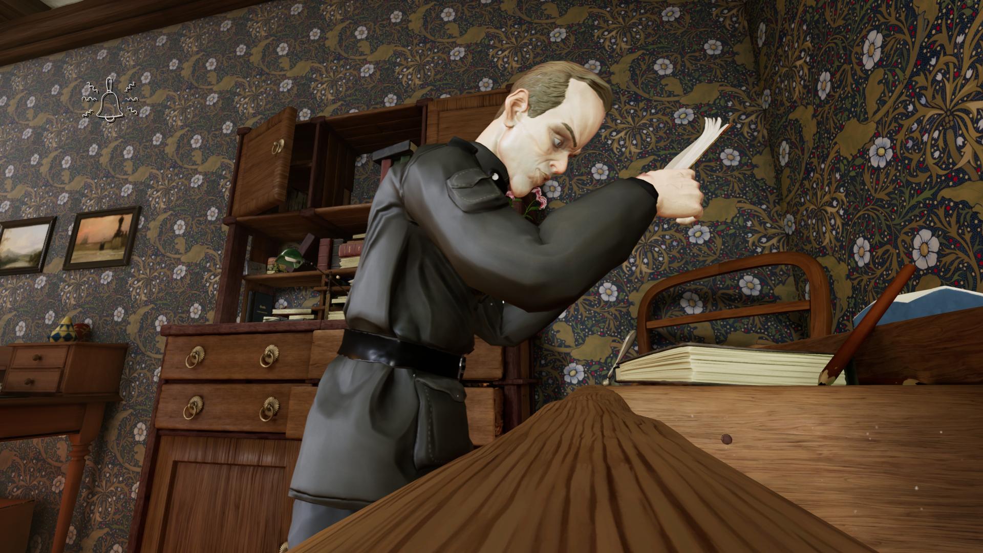 Metamorphosis game screenshot - authorities visit Josef
