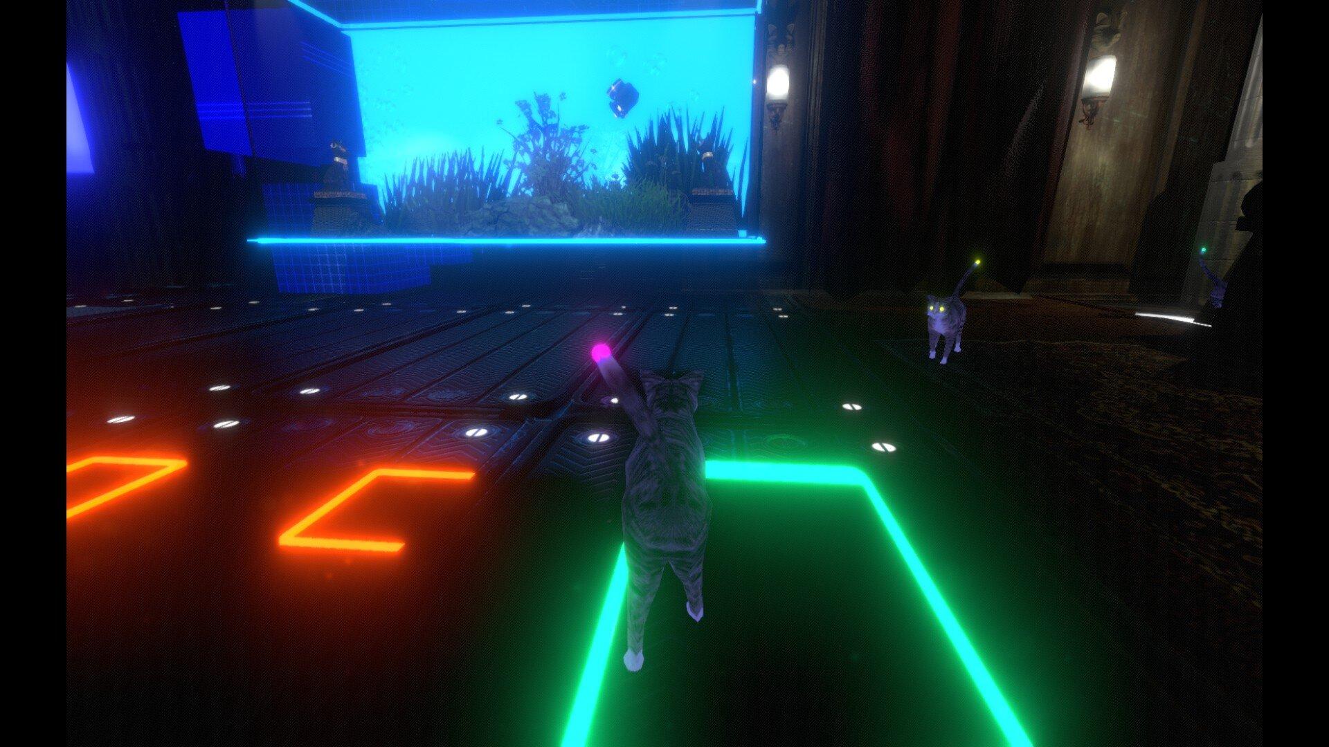 Neon Cyborg Cat Club game screenshot