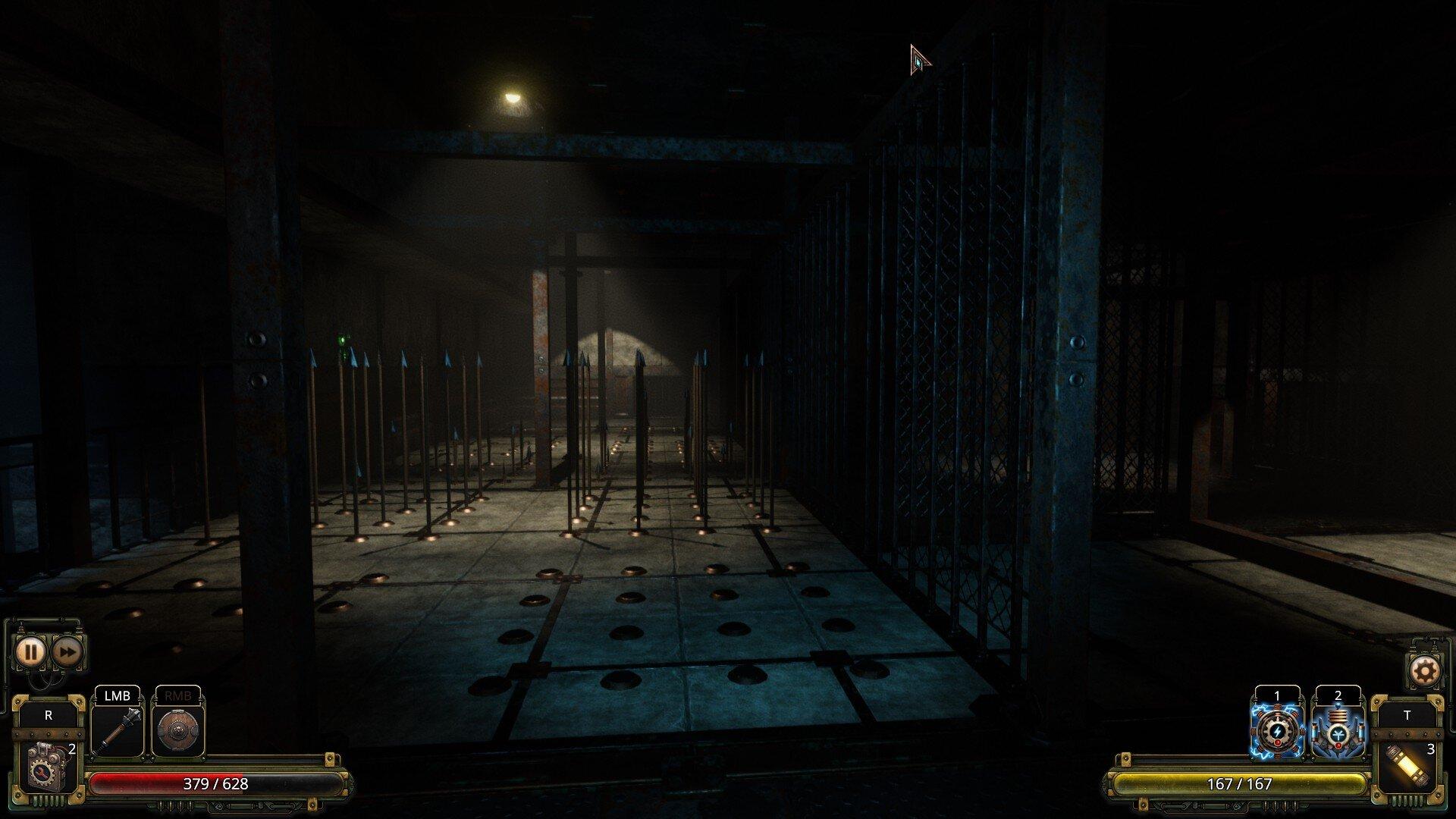 Vaporum game screenshot, spikes