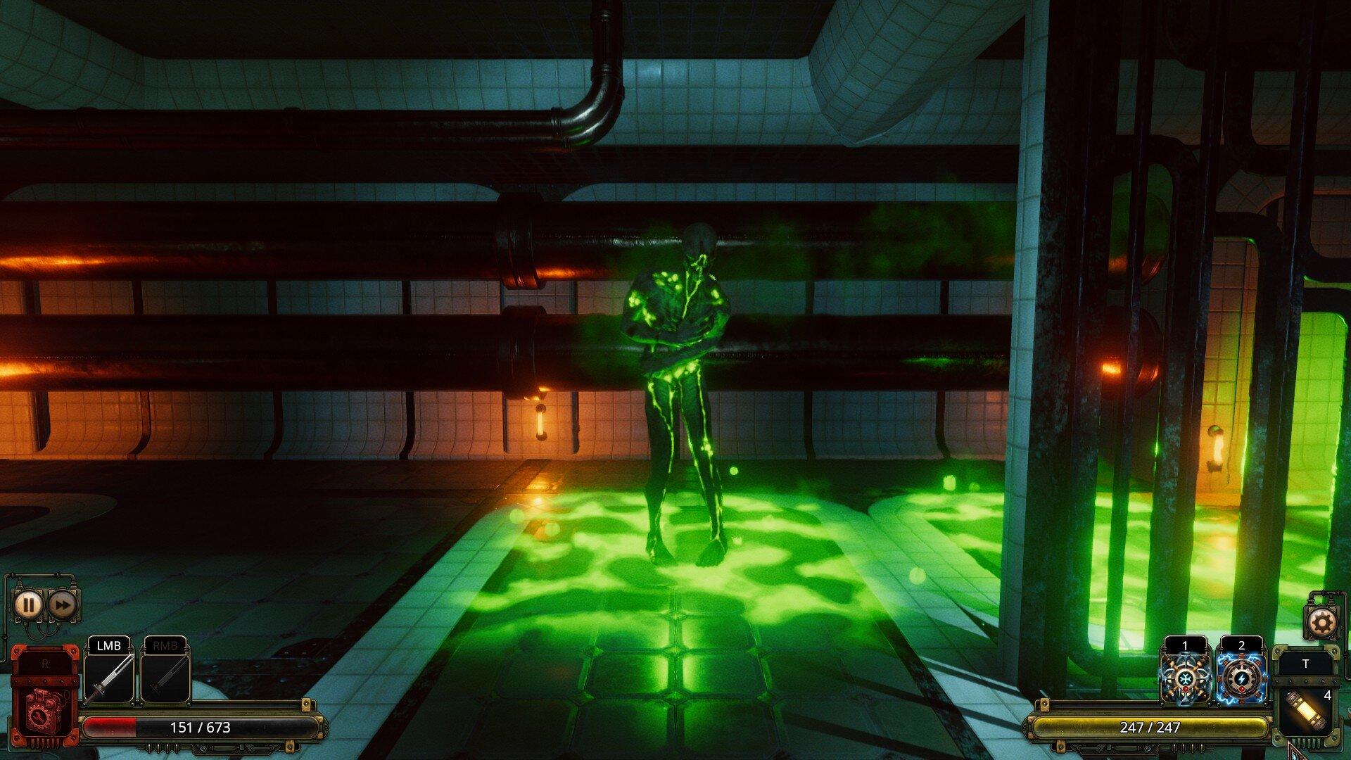 Vaporum: Lockdown game screenshot, guardian