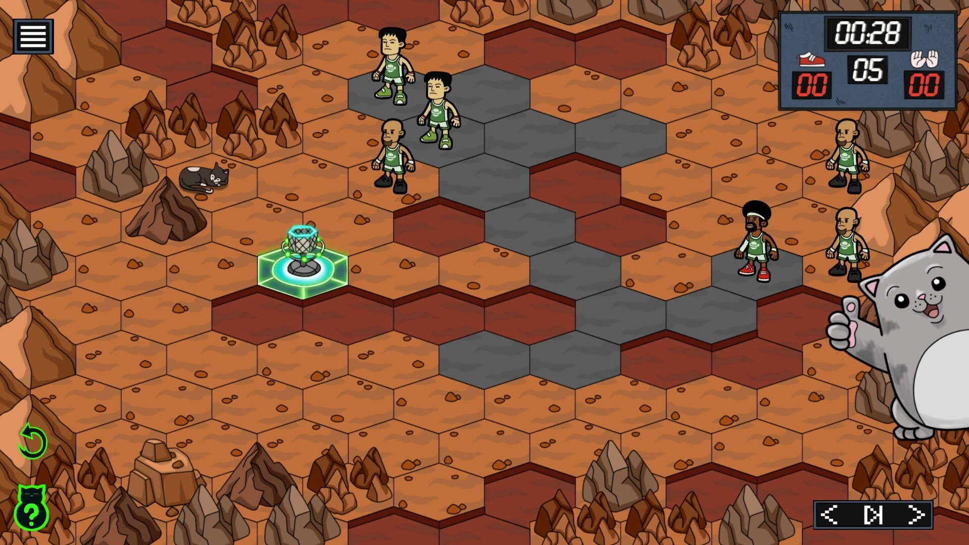 BasCatball Mars game screenshot 1