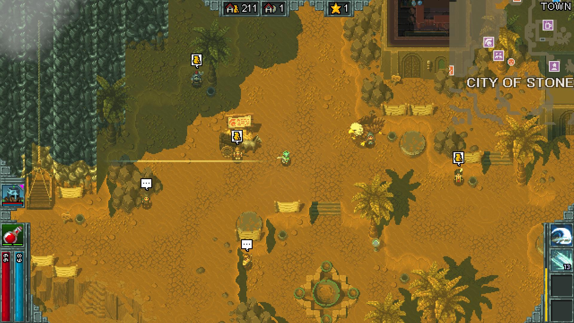 Heroes of Hammerwatch game screenshot, desert scene