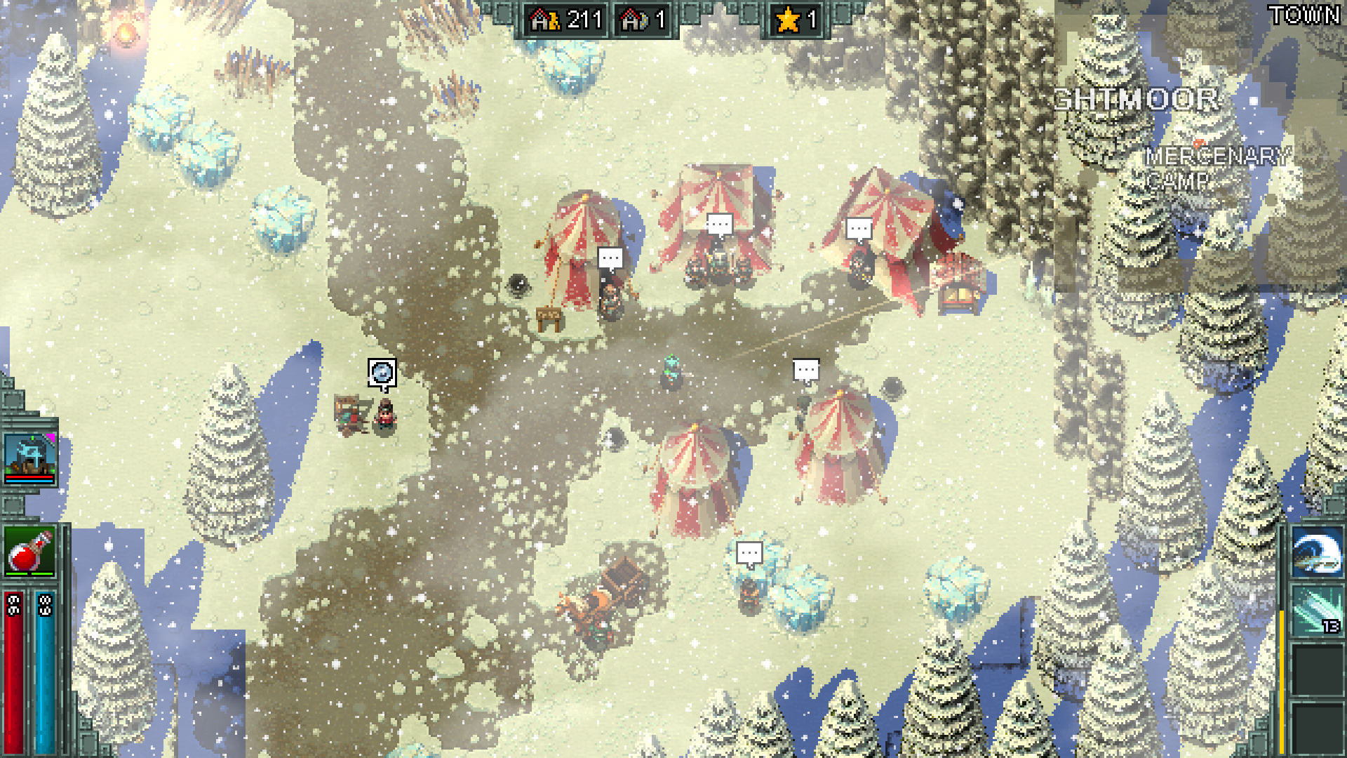 Heroes of Hammerwatch game screenshot, snowy landscape