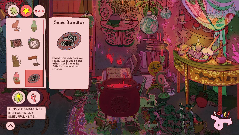 Howdy Jacob game screenshot, Cauldron