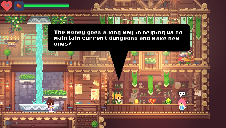Phoenotopia Awakening game screenshot, Dialogue