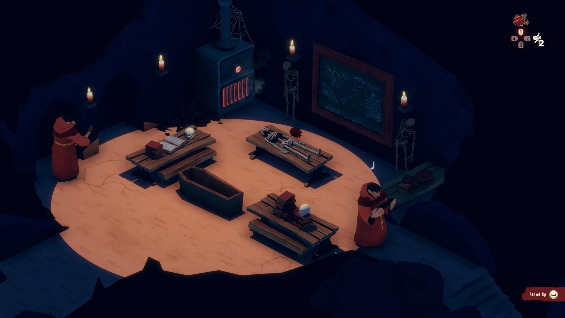 El Hijo - A Wild West Tale game screenshot - spooky monks