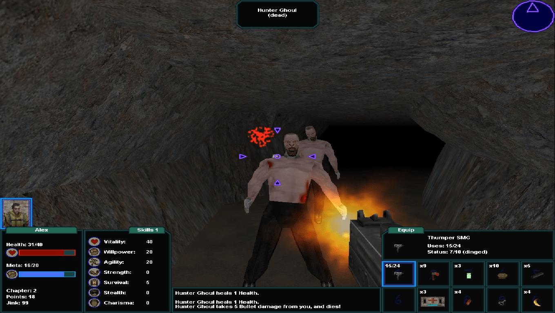 Brigand Oaxaca, game screenshot, Caves