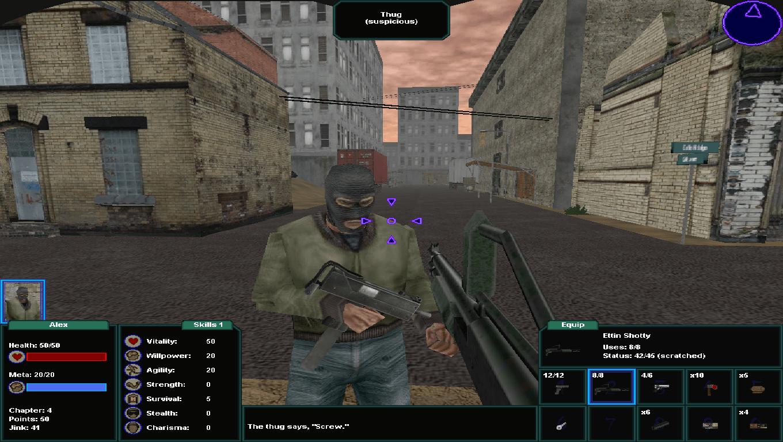 Brigand Oaxaca, game screenshot, City Thug