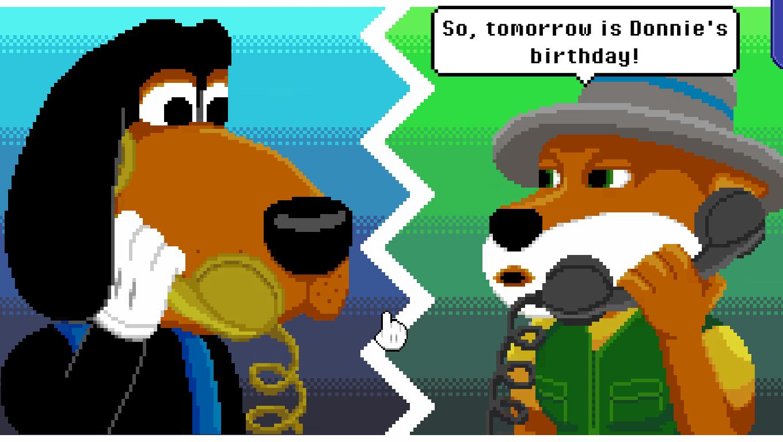 Barney's Dream Cruise game screenshot, Phone call